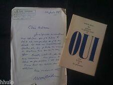 Marcel Béalu OUI E/O 100ex + lettre manuscrite Messager boiteux Noel Arnaud 1950