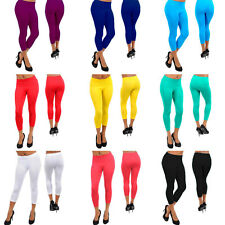 Choose from 12 Colors! Stretchy,Seamless Capri Leggings One Size S/M/L