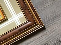 3 D Mahagoni Holz Spiegel Designer Bild  50x40 cm Bilderrahmen Haus am See