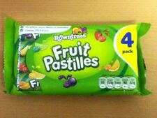4 PACKS OF ROWNTREES FRUIT PASTILLES - BRITISH SWEETS - WILL SHIP WORLDWIDE