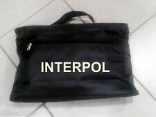 SACOCHE PORTE DOCUMENT PORTABLE 25x38cm INTERPOL POLICE