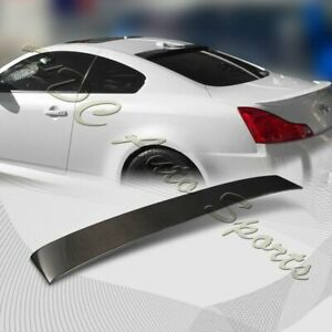 For 2008-2013 Infiniti G37 Coupe Real Carbon Fiber Rear Roof Window Spoiler Wing
