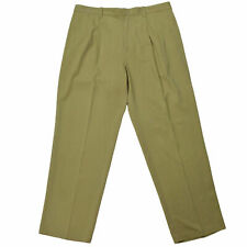 Tommy Bahama Mens Trousers 36x30 Beige Silk Blend Summer Camp Aloha Pleated