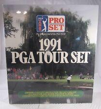 1991 PRO SET BINDER AVEC PAGES & COMPLET 285 CARTE PGA TOUR GOLF SET