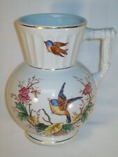 RARE 1800s TAYLOR & KNOWLES IRONSTONE IONIC BIRDS HOT WATER PITCHER EXCELLENT