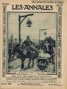 Les annales n°1968 du 13/03/1921 Géorgie Tiflis Rachel et Musset