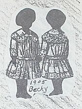 "Antique Doll Dress Pattern Taken from Antique child Dress Becky sizes 11"" to 27"""