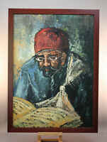 TALMUD SCHOLAR PAINTING - SIGNED