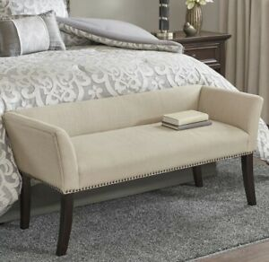 Madison Park Welburn Accent Bench in Cream Finish MP105-0543