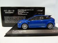 MINICHAMPS 400 088101 FORD FOCUS RS diecast road car Indianapolis Blue 2009 1:43