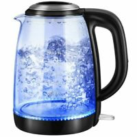 Glass Kettle Jug 1.8L - Blue LED Illuminated - Cordless New **CHEAPEST PRICE**