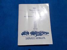 1992 Ford Thunderbird Mercury Cougar Factory Service Chassis Body Repair Manual
