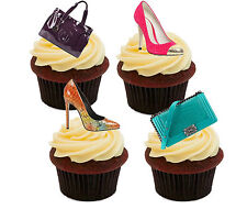 Handbags & Shoes Edible Cupcake Toppers, Standup Fairy Cake Decorations Female