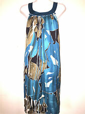 JODI ARNOLD THE LIMITED WOMENS LADIES TEAL 100% SILK SHIFT STYLE SPRING DRESS 12