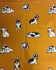 """blue pugs poly cotton fabric 45/"""" Wide"""