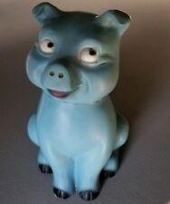 "Vintage 6 1/2"" Plastic Piggy Bank - Moldcraft Inc 1960 - Rare -"