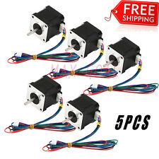 US 5PCS Nema 17 Stepper Motor Bipolar 84oz.in(59Ncm) CNC/3D Printer Reprap RoFH