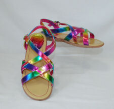 TCP Childrens Place Big Girls Size 5 Rainbow Sandals Buckle Closure