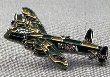 Metal Enamel Pin Badge Brooch RAF Lancaster Bomber Aeroplane Battle of Britain