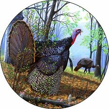 Turkey Woods Spare Tire Cover Fits jeep, rv, campers, trailers, backup cameras