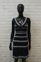 GUESS Donna Taglia Size S Vestito Abito Tubino Stretto Dress Women Blu Cotone