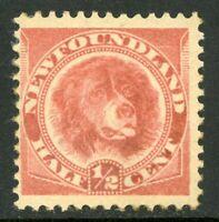 Canada 1896 Newfoundland ½¢ Dog ROSE Red Scott #57 Mint C114 ⭐⭐⭐⭐⭐⭐