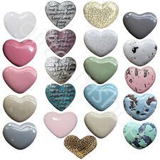Vintage Heart Ceramic Door Knobs And Metal Door Handles For Cupboards Cabinets