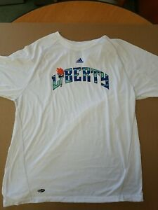 WNBA NY Liberty T-shirt Adidas Climalite Size Large 100% polyester