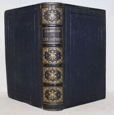 RAMBOSSON Histoire Astres Astronomie 63 gravures 3 cartes 10 planches 1874