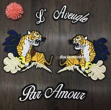 Tiger patch/ Slogans/ Sew on patch/ Embroidered Patch/ Tattoo patch/ Applique