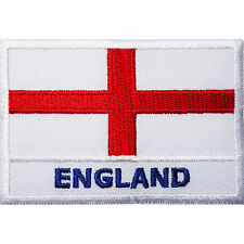 England Flag Embroidered Iron Sew on Patch United Kingdom UK English Shirt Badge
