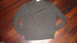 CALVIN KLEIN brown extra fine merino wool jumper XL