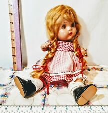 "1930's Horseman 12"" 'JoJo' Composition Doll~ Mohair Blonde Braids~All Original💖"