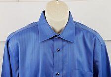 Kenneth Roberts Platinum Luxury Mens Long Sleeve Dress Shirt 16 1/2 34 / 35 Blue