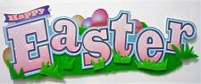 Happy  Easter Egg Hunt Grass Eggs Title Jolee's 3D Sticker