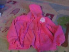 Vguc Gymboree pink fleece girls hoodie flower ruffle design S 5-6 girly sweet