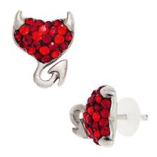 Echter Edelsteine-Ohrschmuck mit Herz und Butterfly-Verschluss für Damen