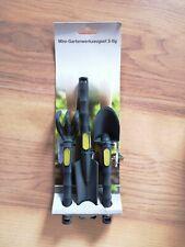 NEU 3-teiliges Mini-Gartenwerkzeug, Rechen, Spaten, Schaufel aus Kunststoff