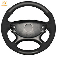 Leather Suede Steering Wheel Cover for Benz E63 AMG 06-08 CLS 63 AMG 2007 #BA57