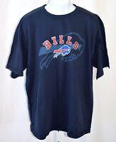 "Buffalo Bills Mens NFL XL 48"" Chest 100% Cotton 3D Graphic Blue Red T Shirt"