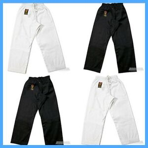 New Proforce Gladiator Lightweight Karate Black or White Martial Arts Pants TKD