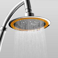 Rainfall Shower Head Round Adjustable Bathroom Sprayer Rain Top High-Pressure