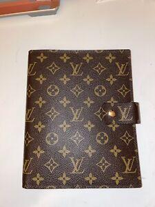 Louis Vuitton  Monogram Agenda GM Notebook Planner Cover - Brown