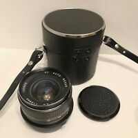 Rexar 28mm F2.8 Auto MC Camera Lens for Olympus OM - With Lens Case