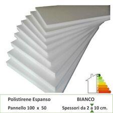 Polistirolo polistirene espanso 100 X 50 X 2 cm.- 10 pannelli Bianco dens.20Kg.