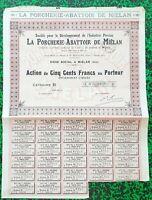 Dépt 32 - Miélan - Belle Frise Rare Porcherie Abattoir de Miélan des Années 1930