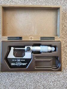 'TESA' ISOMASTER O/S  MICROMETER 0-25mm (0.01mm) + CASE NO SPANNER