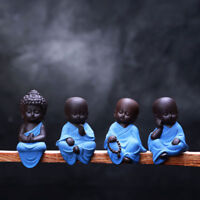 Small Buddha Statue Statuette Yoga Decor Ceramic Handicrafts Ornaments Home Cute