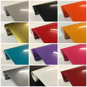 Gloss Sign Vinyl roll Kitchen cupboard covering wrap sticky back plastic white