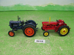vintage Hachette Fordson E27N tractor 1/43 scale & david brown 990 3016